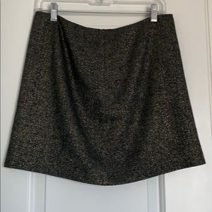 J.Crew black and gold wool skirt